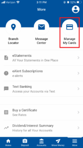 More Menu Mobile App