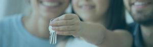 Family holding keys