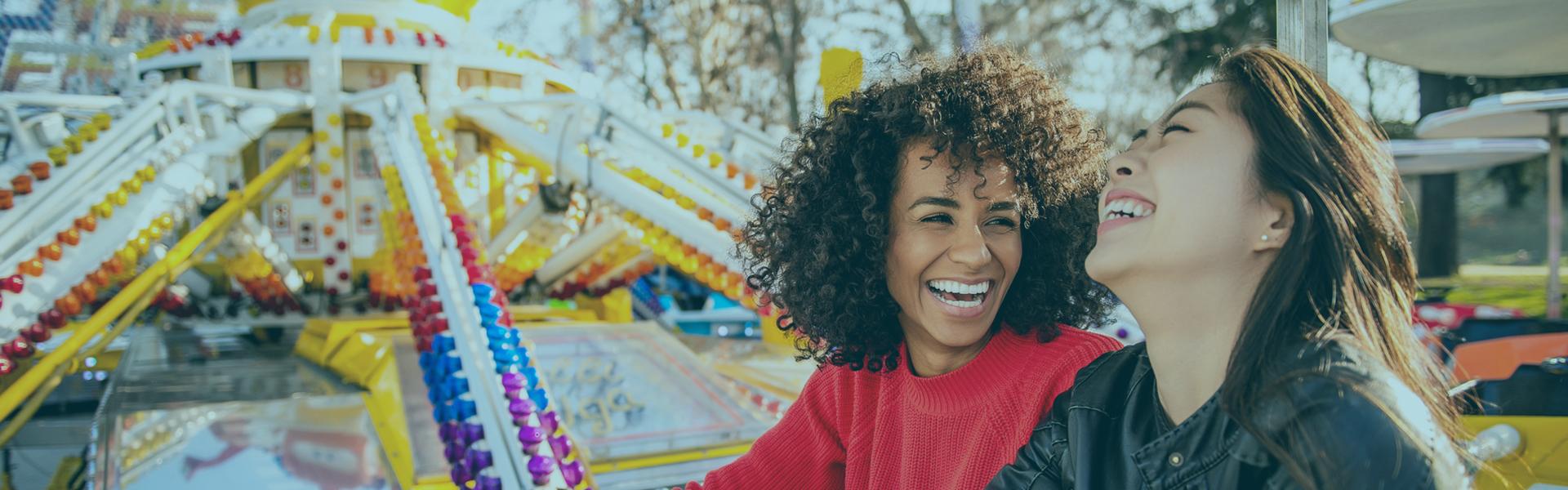 Women on Carnival Ride