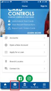 Moile App Menu Home Page