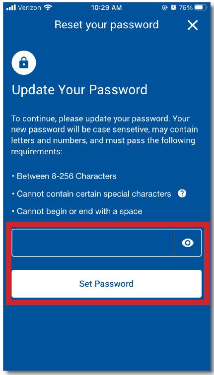 Password Reset Mobile App