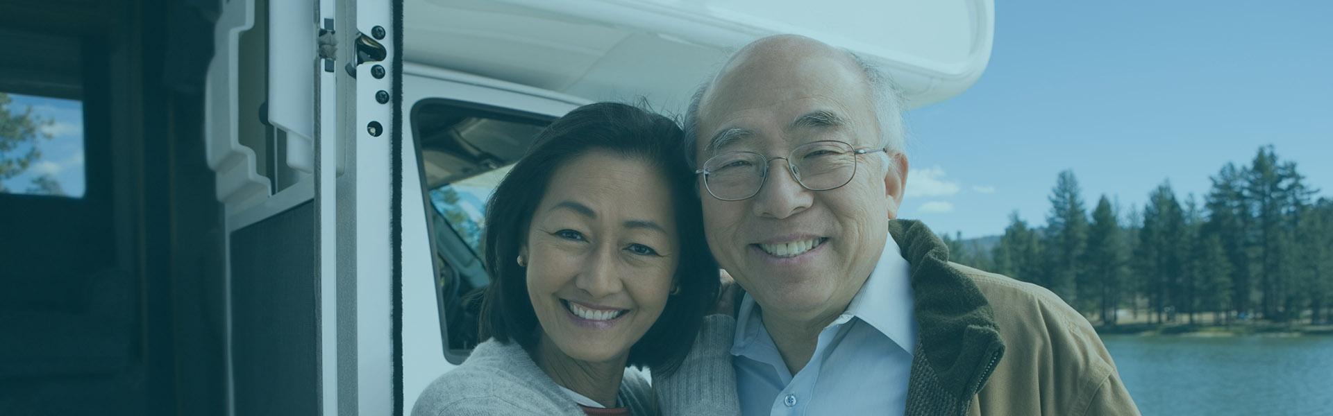 Senior Couple with Trailer