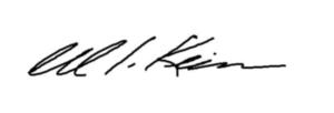 William J. Keim signature
