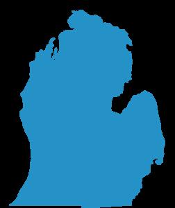 Larger Michigan Silhouette